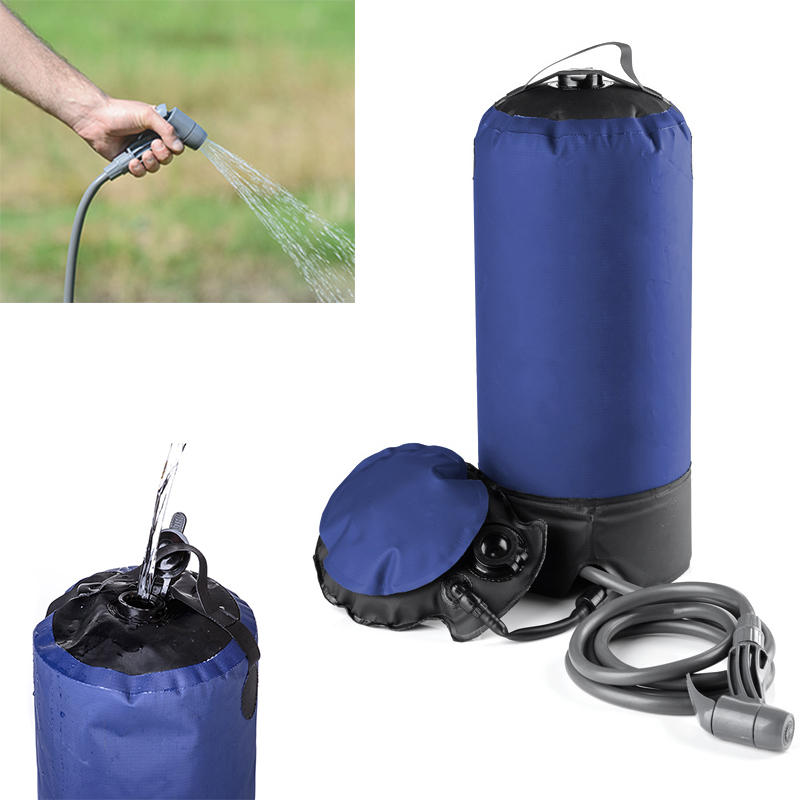 12L Portable Shower Water Bag with Foot Pump for Outdoor Hiking Camping Travel