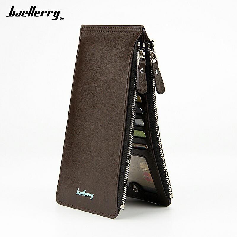 Men Multi-functional 16 Card Slots Long Wallet Card Holder Multi-Card Clutch Bag