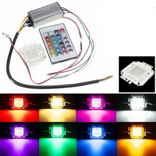 30w RGB bombilla viruta resistente al agua LED fuente de alimentación del conductor con mando a distancia