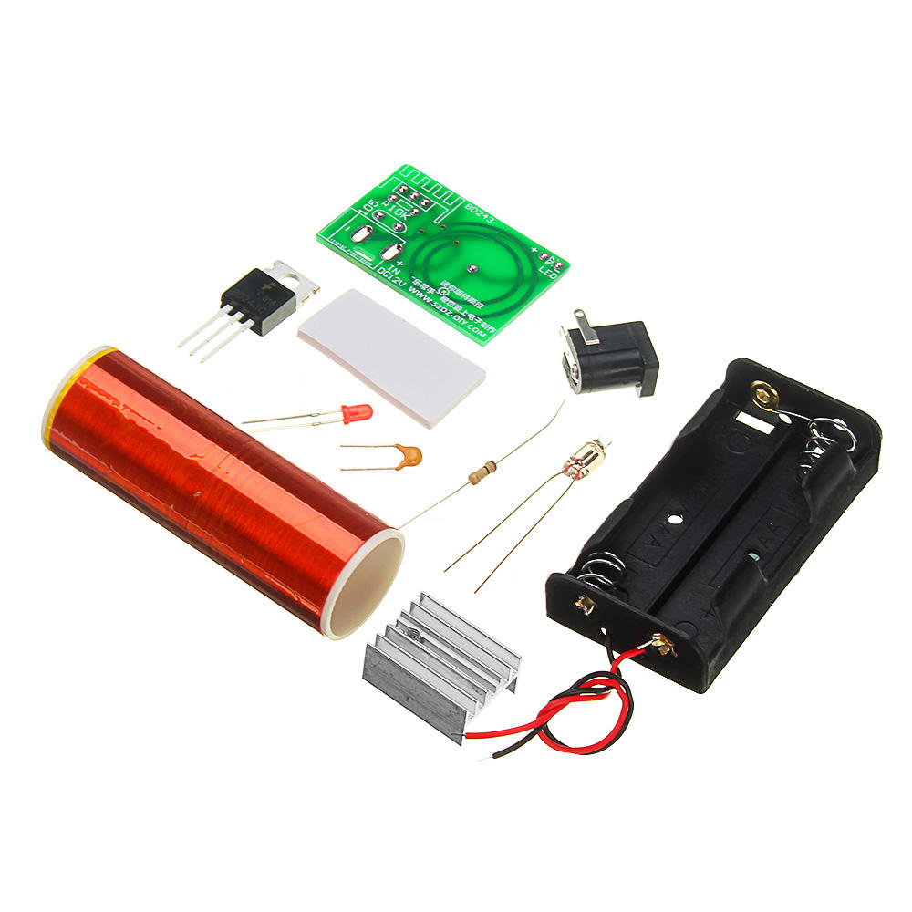 DIY Mini Tesla Coil Module Kit Magic Projects DIY Electronic Production With Battery Socket