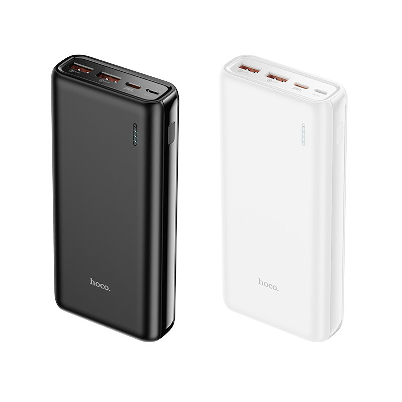 HOCO J80A 20000mAh22.5Wパワーバンク3出力ポートデュアルUSB + Type-C QC3.0 PD3.0Samsung用急速充電パワーバンクGalaxyS21 Note S20 ultra Huawei Mate40 P50 OnePlus 9 Pro