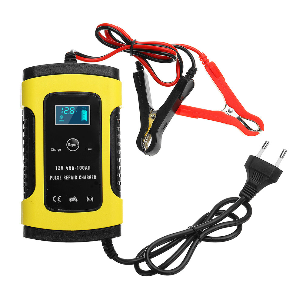 How To Charge A Car Battery Without A Charger >> Imars 12v 6a Pulse Repair Lcd Battery Charger For Car Motorcycle Lead Acid Battery Agm Gel Wet