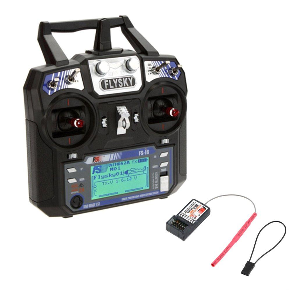 FlySky FS-i6 2.4G 6CH AFHDS Remote Control Transmitter With FS-R6B Receiver For RC FPV Drone - Mode 2