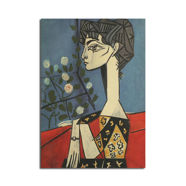 Picasso Jacqueline And Flowers Poster Kraft Paper Wall Poster DIY Wall Art 21 inch X 14 inch