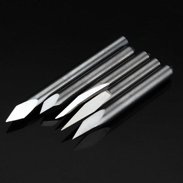 5pcs 3.175mm Shank 0.2mm 15/20/30/45/60 Degree Tungsten Steel Engraving Bits CNC Tool