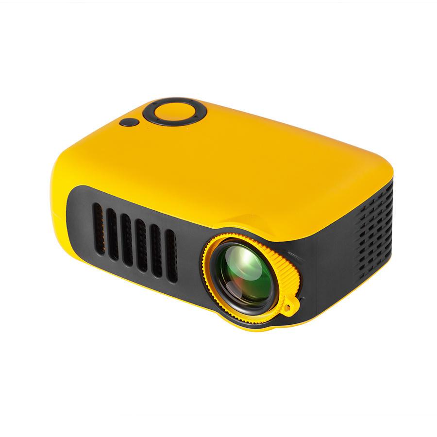TRANSJEE A2000 proiettore 800 Lumen 1000: 1 Rapporto di contrasto 320 * 240P Risoluzione nativa supportato 1080P 23 lingue Video Home Theater proiettore