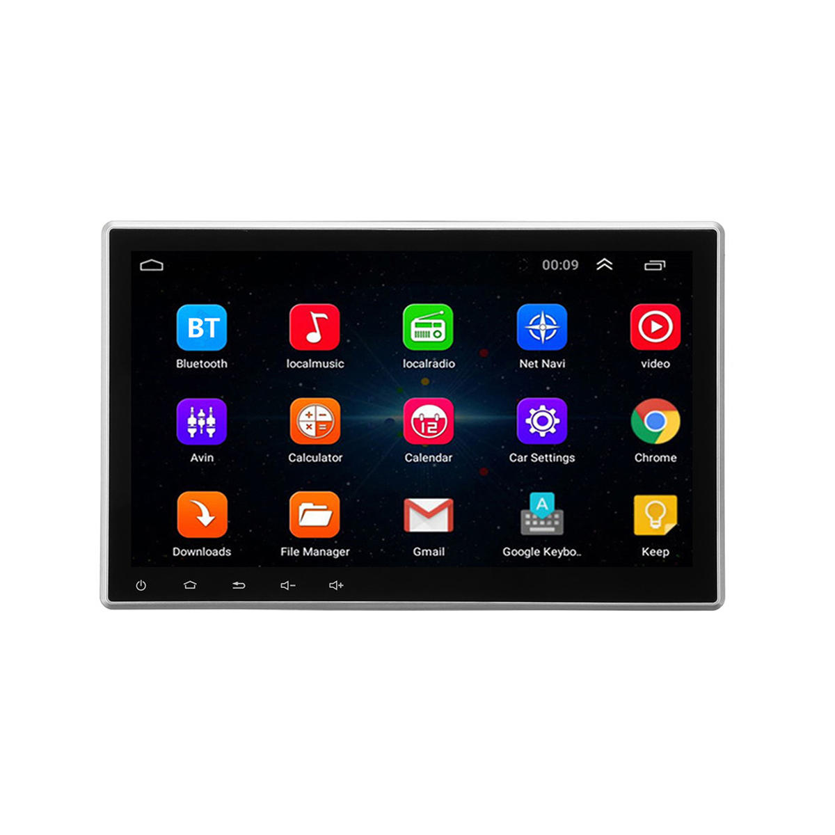 10.1 Inch 1Din Car Radio Stereo MP5 Player GPS Navigation bluetooth Android 8.0 Retractable Touch Screen
