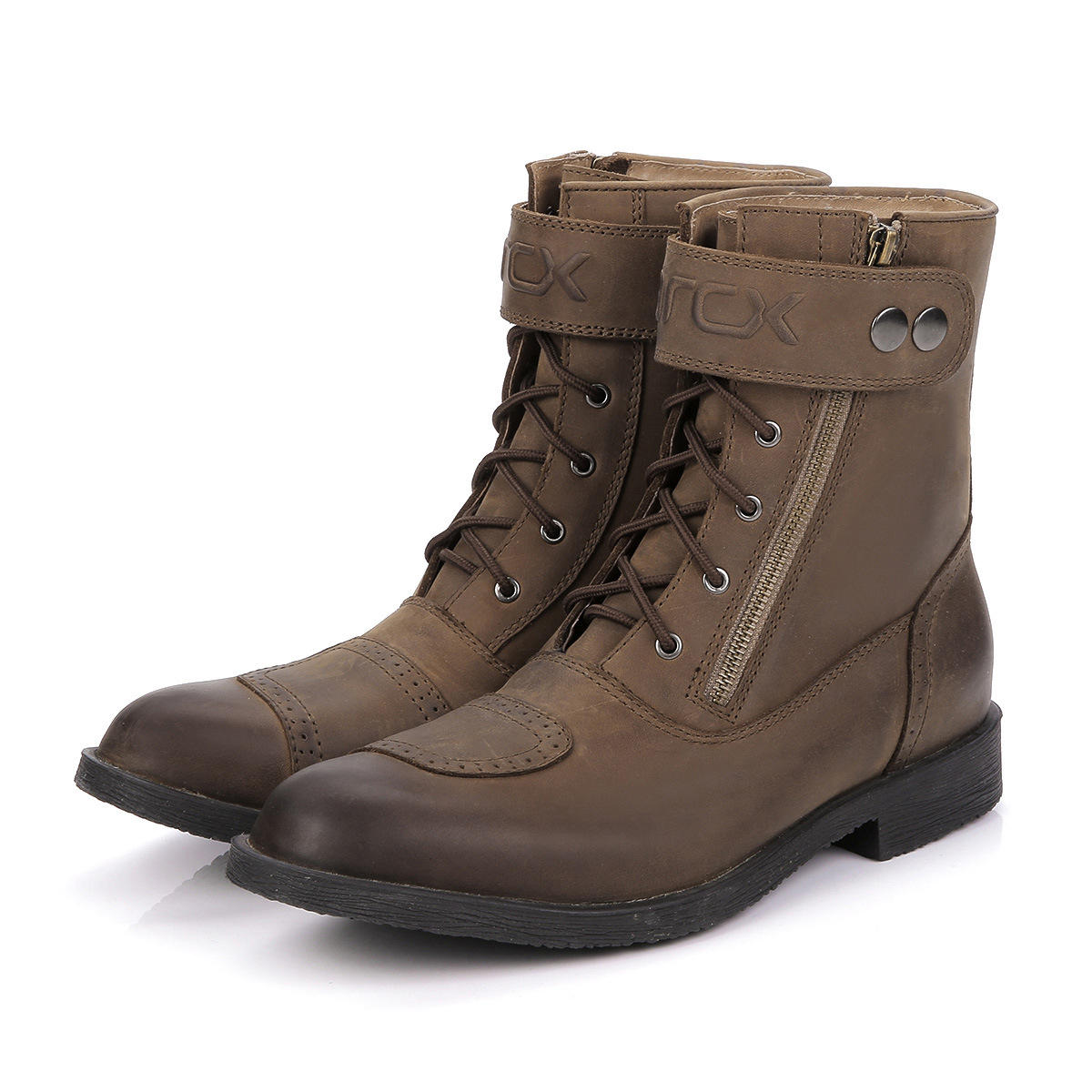 Cow Leather Motorcycle Leisure Pointed Shoes Riding Boots ARCX