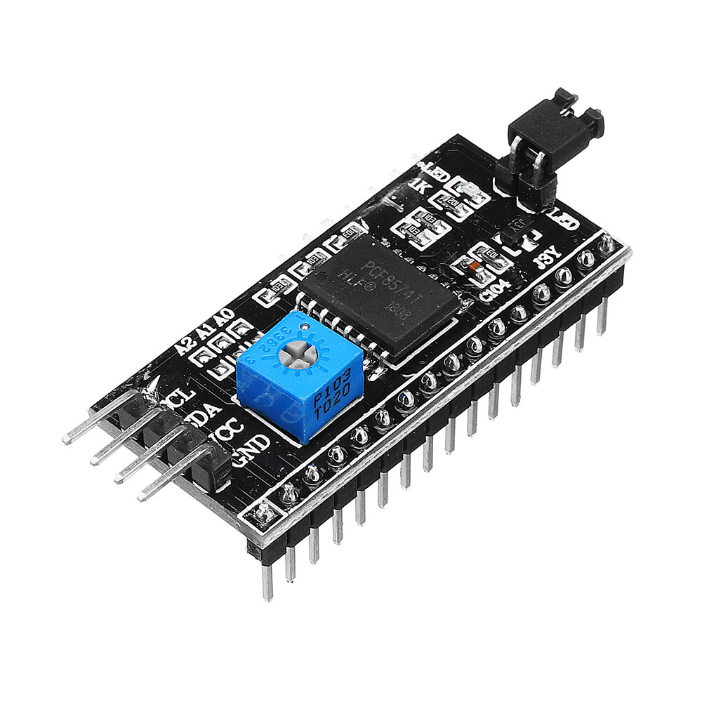 IIC I2C TWI SP Serial Interface Port Module 5V 1602 LCD Adapter Geekcreit for Arduino - products that work with official Arduino boards