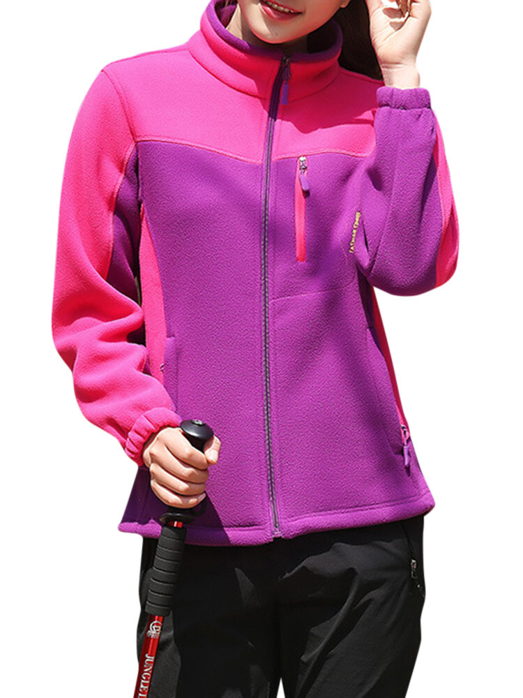 Casual Women Windproof Fleece Mountaineer Outdoor Sport Jackets фото