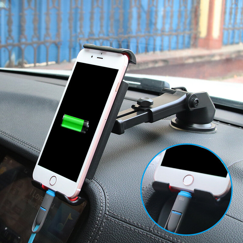 Bakeey™ Multifunctional Phone Stand Suction Cup Car Dashboard Car Phone Holder Bracket for Smartphone iPad GPS
