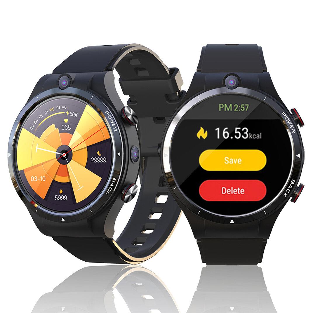 LEMFO LEM15 1.6inch Large Screen 4G+128G Phone Watch Dual Camera GPS+GLONASS Health Monitor Multi-Dials 900mAh IP67 Waterproof Android 10.7 4G Smart Watch