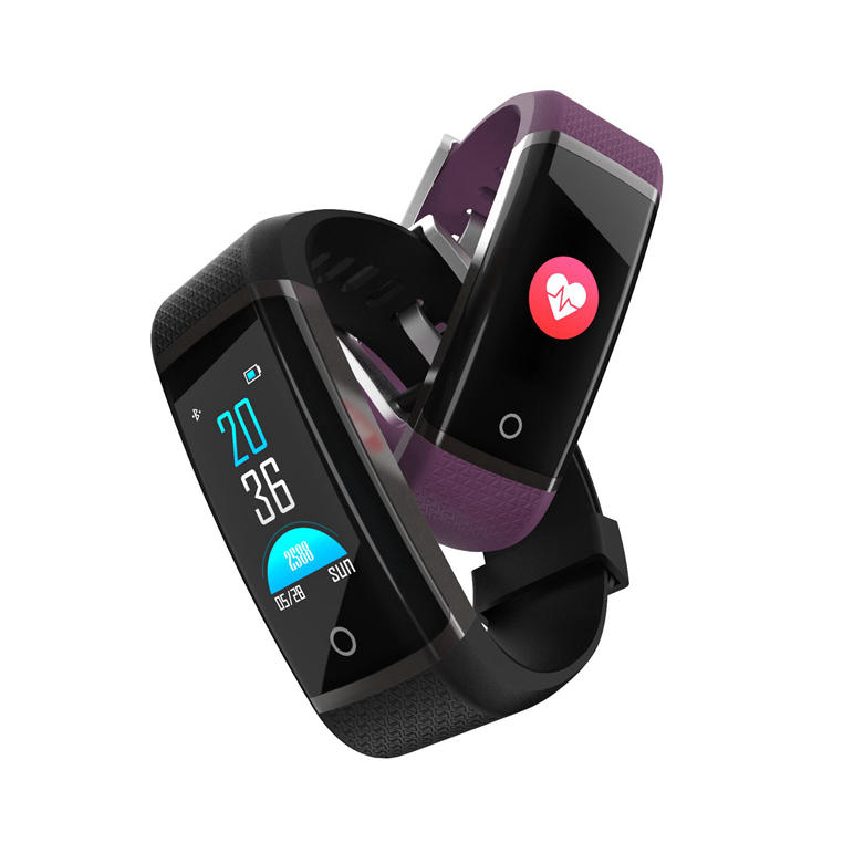 Bakeey Z19c Fitness Tracking Heart Rate O2 One-key Detection Reject Call Remote Camera Smart Watch - Black