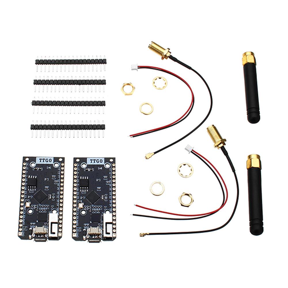 LILYGO® TTGO 2Pcs ESP32 SX1276 LoRa 915MHz bluetooth WI-FI Internet Antenna Development Board For Arduino