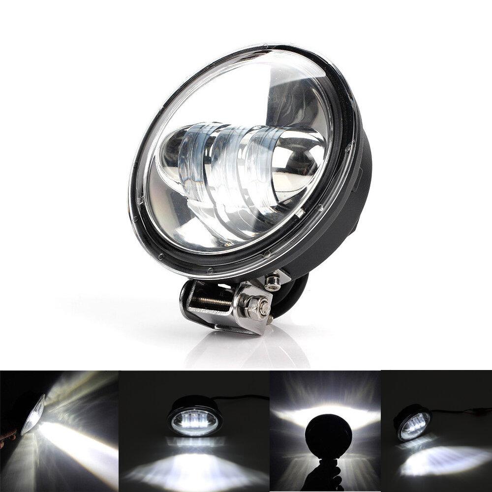 Round Led Work Light Motorcycle Spot Beam Offroad Driving Lighting Suv Car Bar Lamp