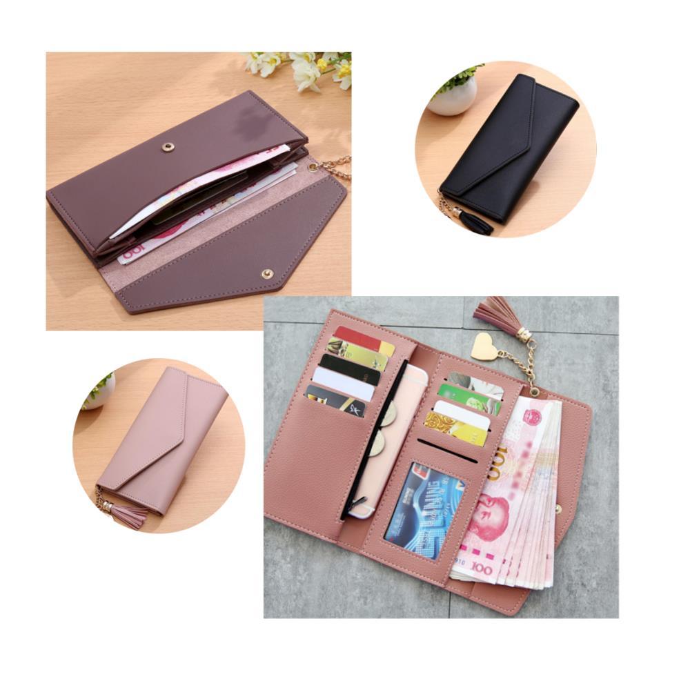 Women Long Purse Multi Card Slots PU Leather Phone Wallet Envelope Clutch Bags фото