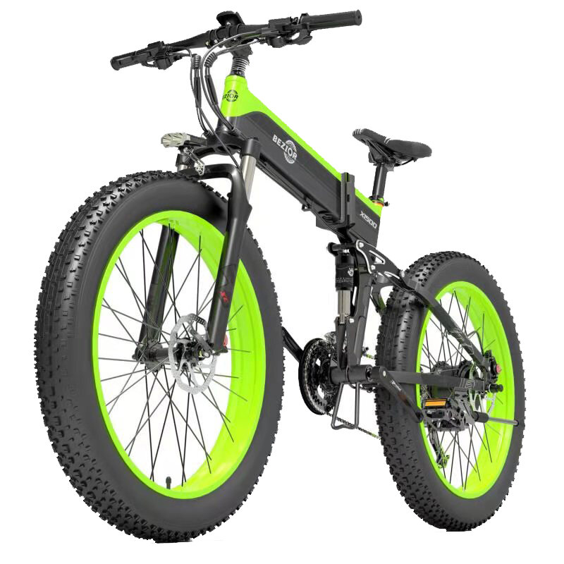 [EU DIRECT] Bezior X1500 12.8Ah 48V 1500W Folding Moped Electric Bicycle 26inch 40Km/h Top Speed 100km Mileage Range Max Load 200kg