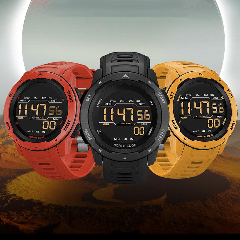 NORTH EDGE Mars Alarm Pedometer Countdown Sport Watch 50M Waterproof FSTN Screen...