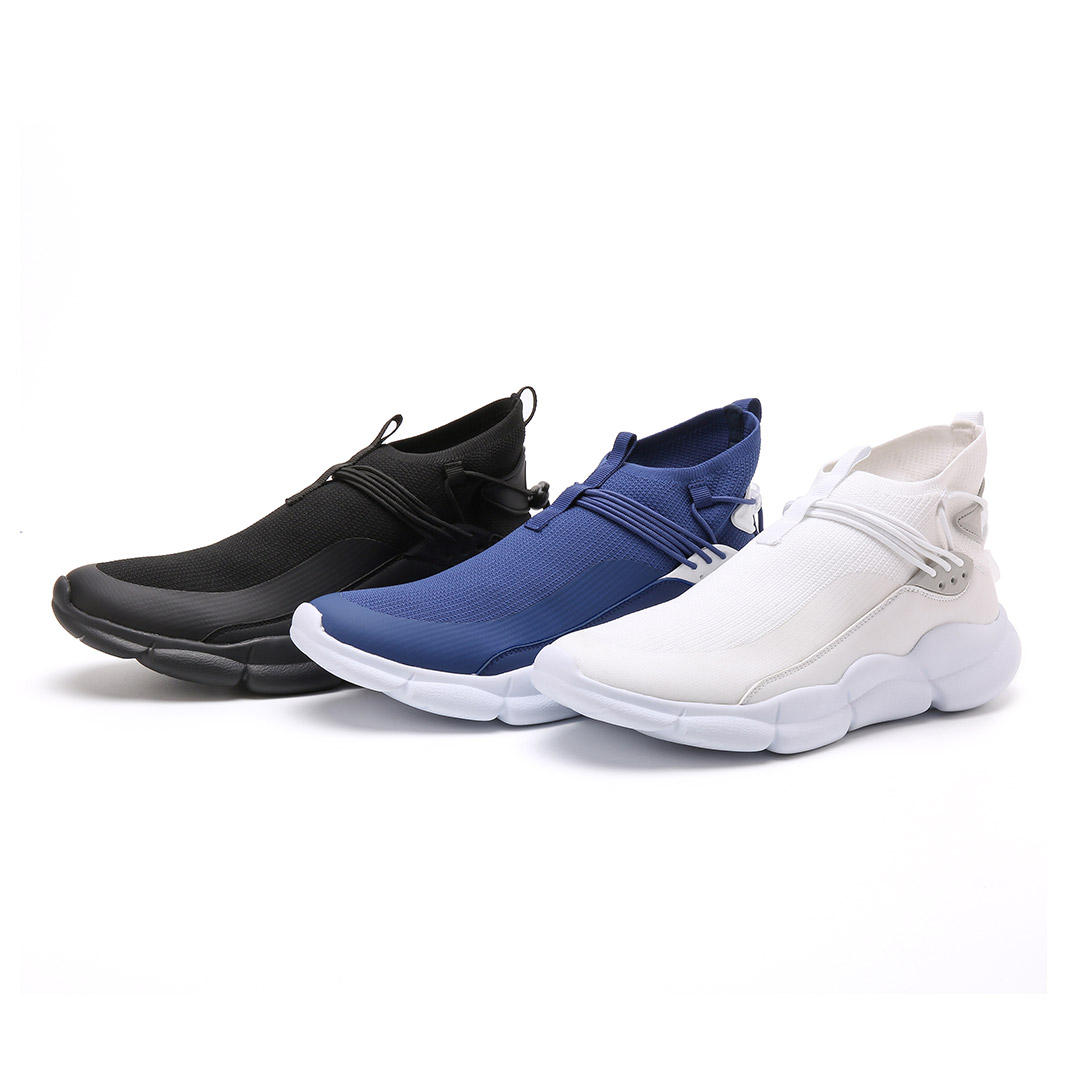 Xiaomi Uleemark High Fly Knit Men Sneakers Lock Buckle Design Sports Running Shoes Soft Wear Resistance Casual Shoes