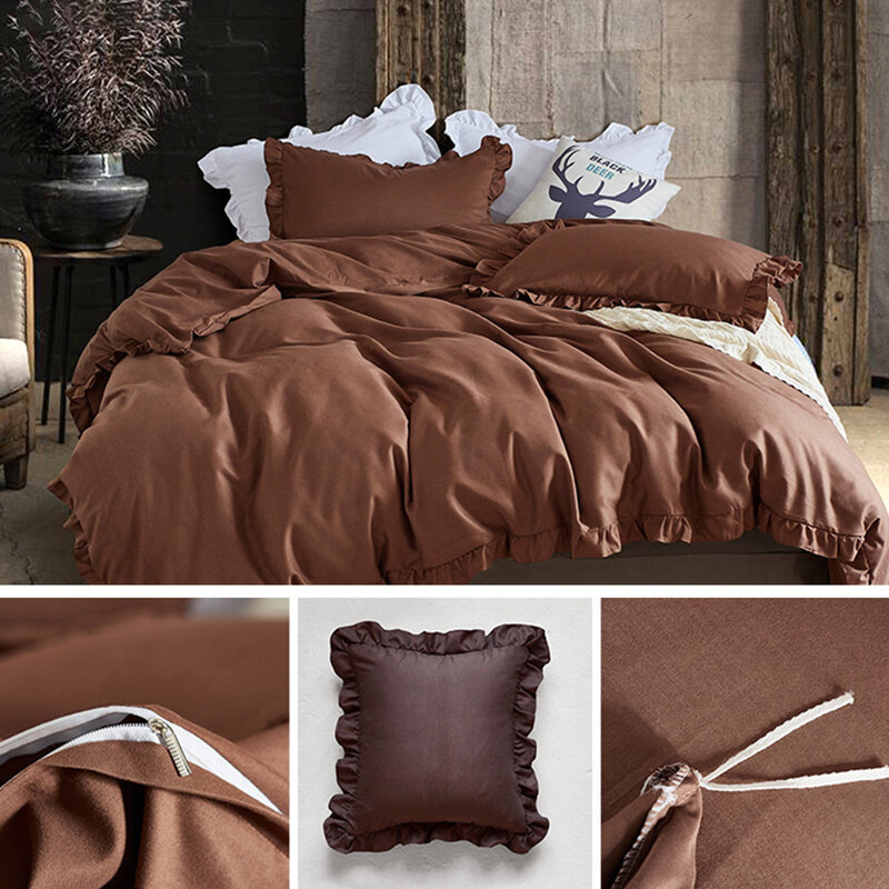 Super Soft Concise Nordic Style 3 Pieces Bedding Sets Twin Queen