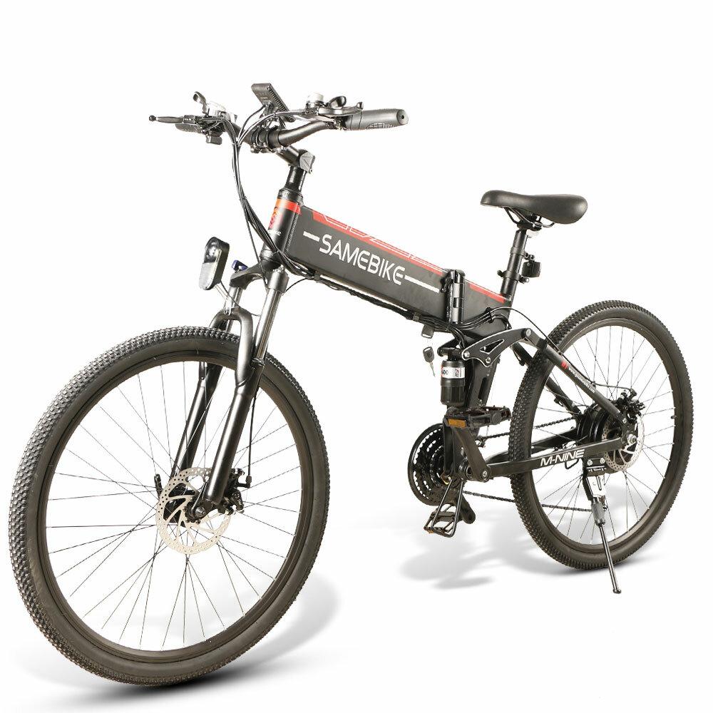 SAMEBIKE LO26 10Ah 48V 500W 26in Folding Moped Electric Bike 35km/h Top Speed 80km Mileage 150kg Max Load E-bike Mountai