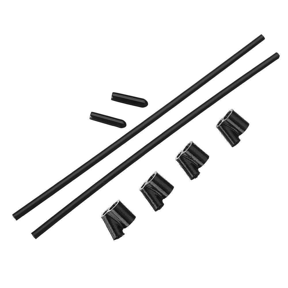 4PCS 40° TPU FPV RX Antenna Tube Holder w/ 2PCS 5.5 inches Antenna Tube for 5mm Standoffs Black