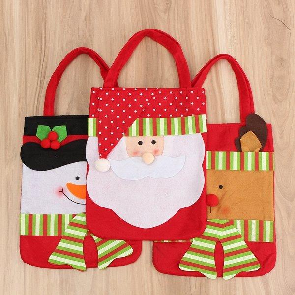 Bolso de la bolsa media de la decoración del bolso claus muñeco de nieve de regalo de Navidad caramelo de santa