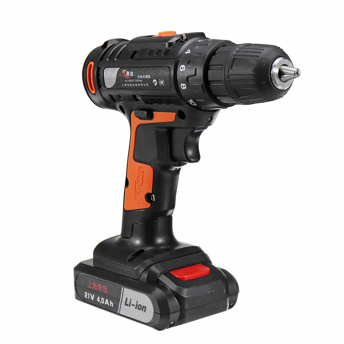 21V 4000mAh Cordless Rechargeable Power Drill Driver Electric Screwdriver with 1 or 2 Li-ion Battery