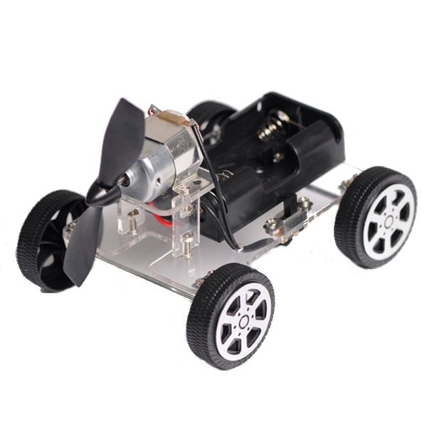 Mini 4-hjuls vindkraftverk DIY Smart Robot Car Chassis Kit