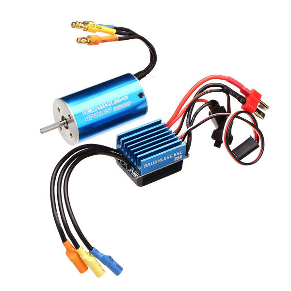 2845 motor 3100/3930kv sensorless brushless waterproof 35a esc rc car parts  - 3930kv cod