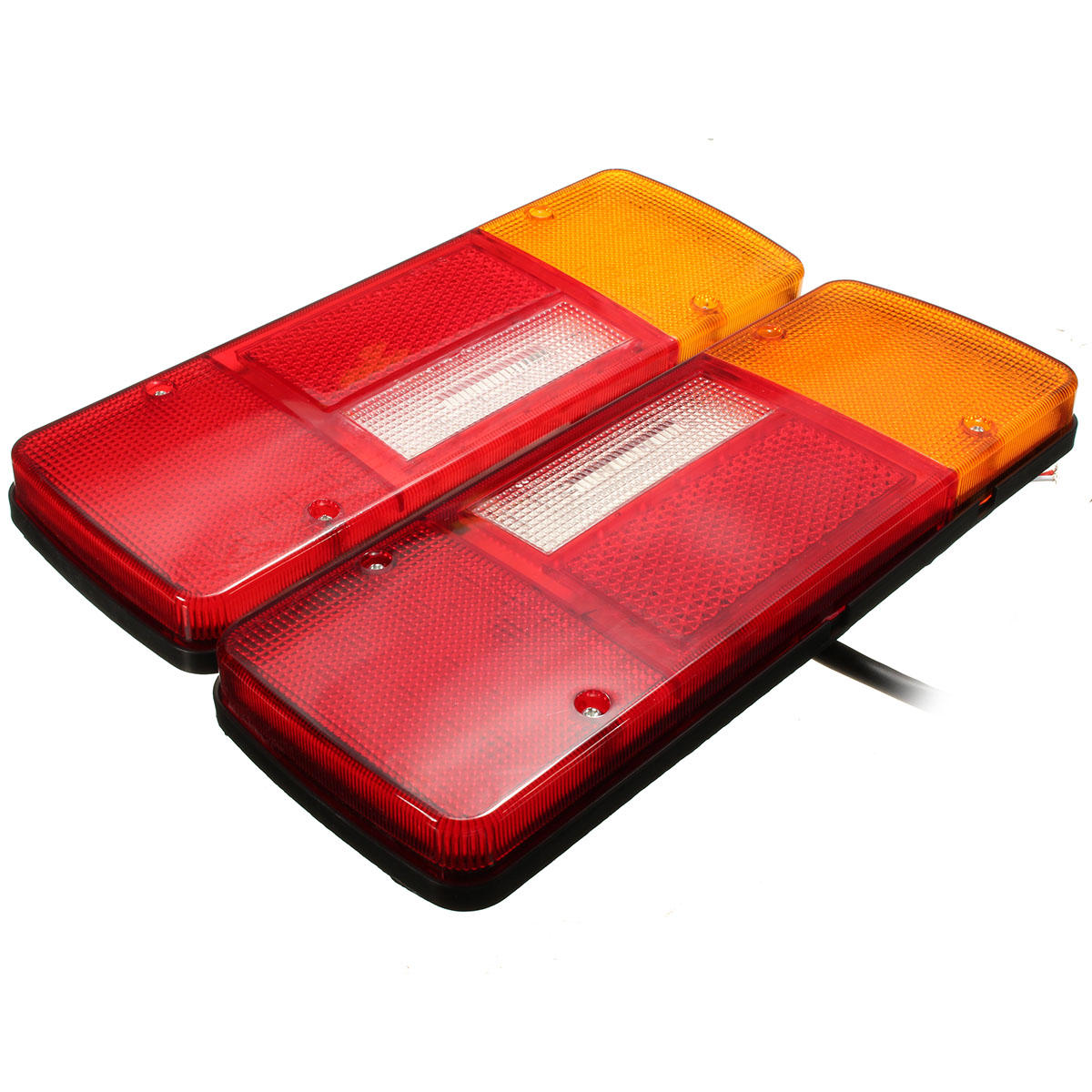 12V 92 LED Belakang Tail Lights Indikator Brake Reverse Lamp Pair untuk Caravan Van Trailer Truck