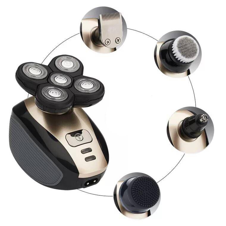 YFM® 5 in 1 4D lavabile ricaricabile testa rasoio elettrico barba Capelli Trimmer Clipper USB