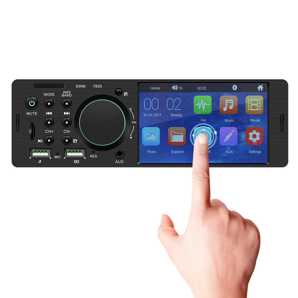 7805 4.1 Pollici WINCE Car MP5 Player 1DIN Touch Screen Scheda video TF audio bluetooth FM Radio Supporto Carema
