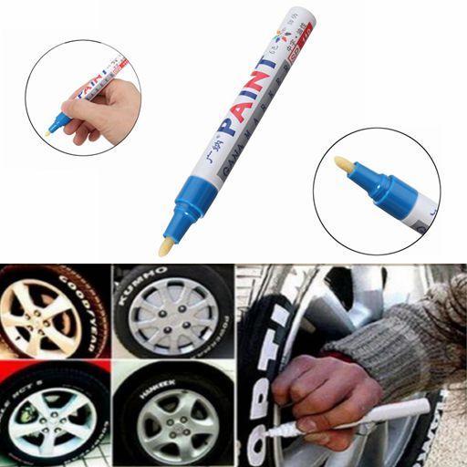 3 पीएससी ब्लू कलर टायर परमानेंट पेंट पेन टायर मेटल आउटडोर मार्किंग इंक मार्कर ट्रेंडी