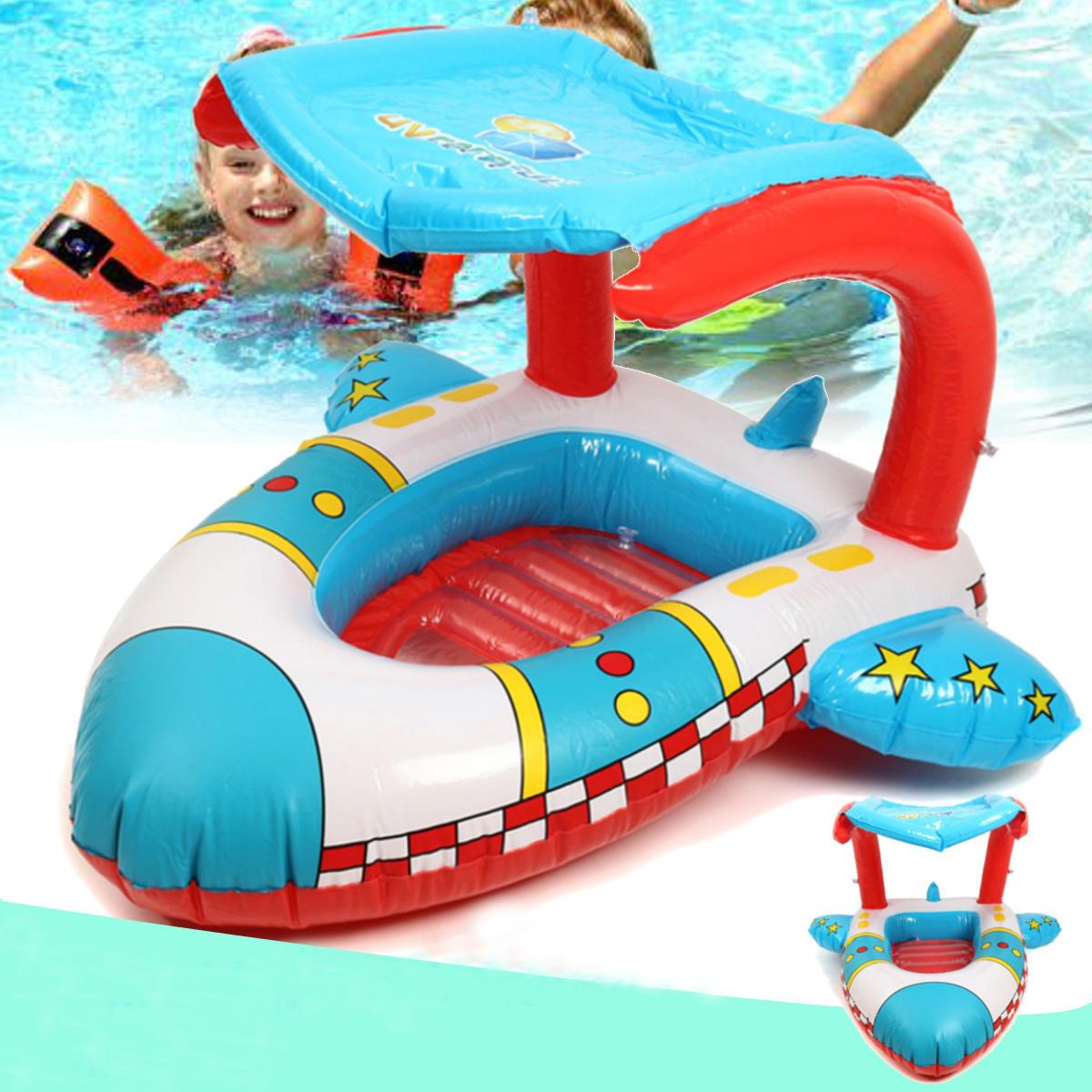 おおいが付いている膨脹可能な幼児の赤ん坊の水泳リング平面浮遊物の子供のプールの座席