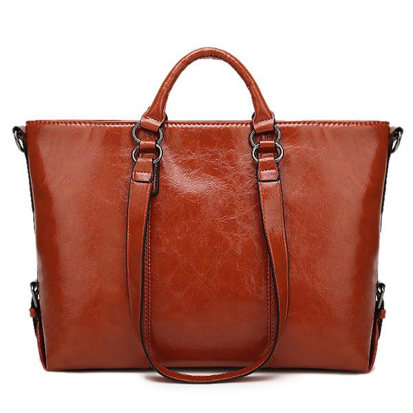 Women Fashion Minimalist Handbag Leisure Business Shoulder Bag Tote Bag