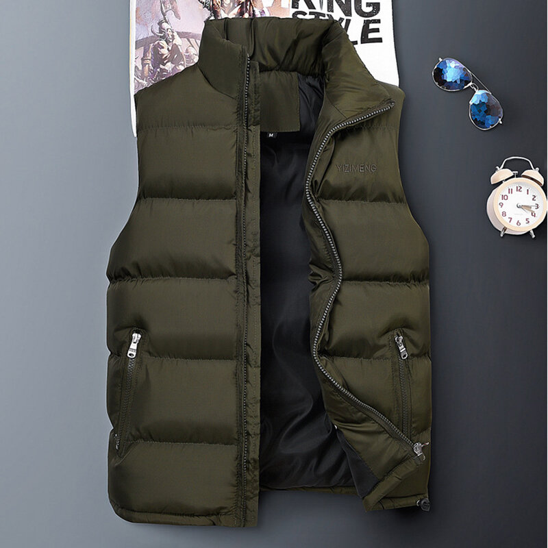 Mens Down Cotton Padded Casual Thick Vest Coats, Banggood  - buy with discount