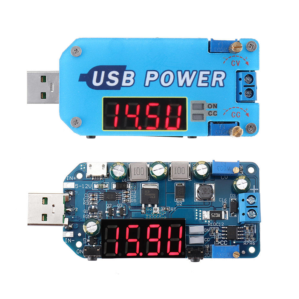 Geekcreit® USB Boost Module 5V to 9V12V Step Up Module Adjustable Voltage Current Display Charging Router Converter