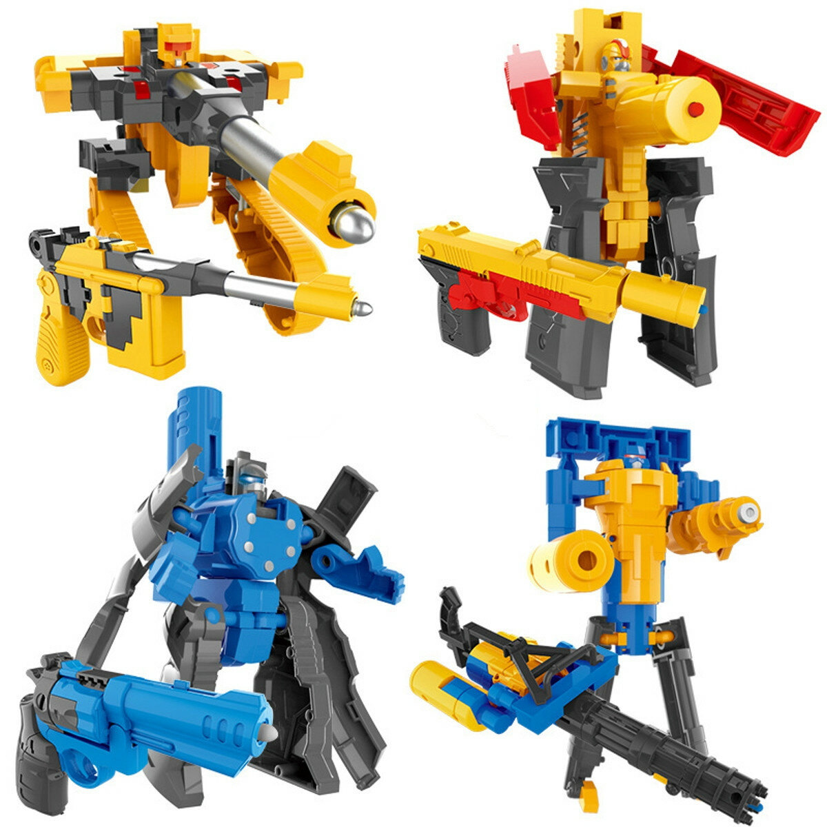 Children's Deformation Pistol Robot Toy Puzzle DIY Assembly Toy Christmas Gift