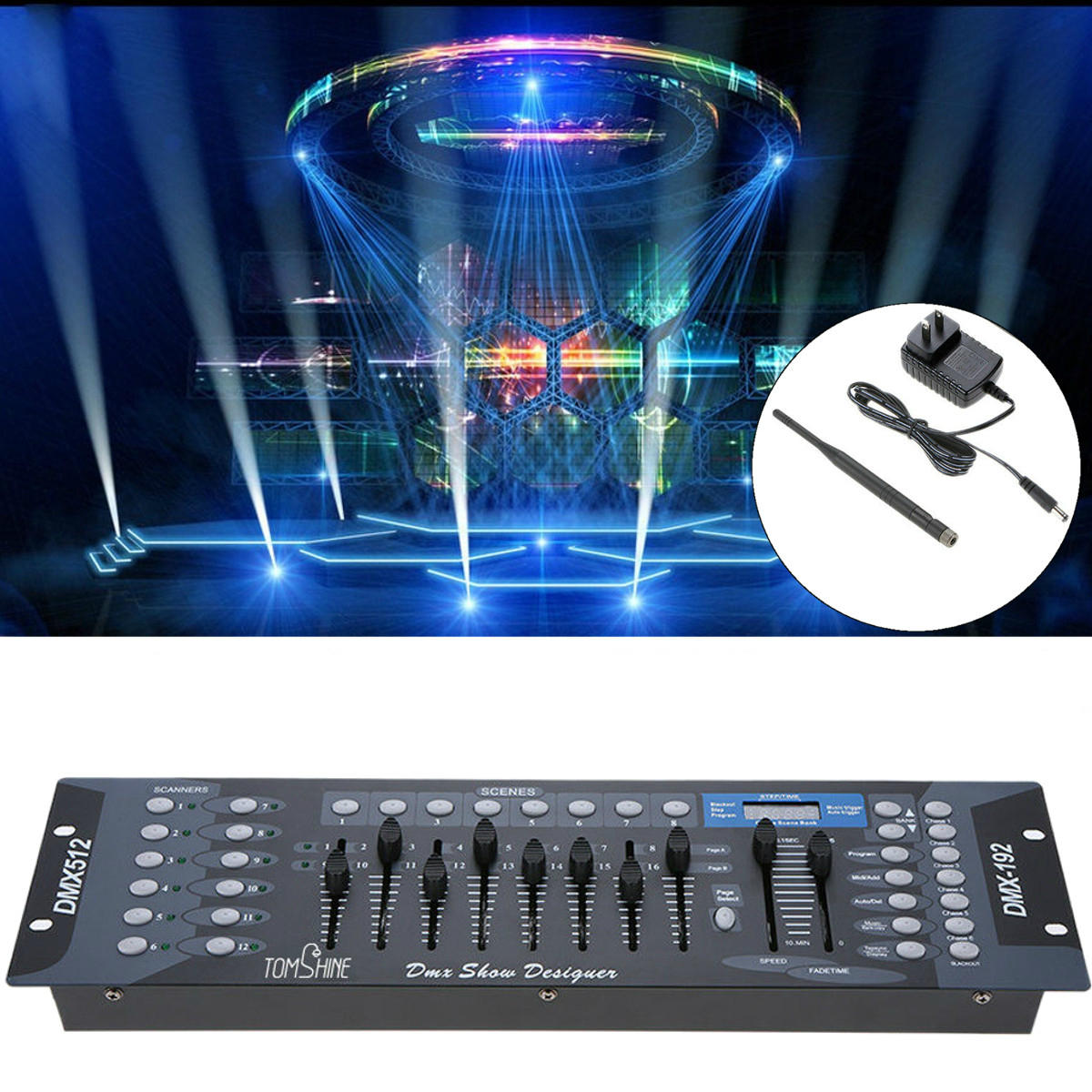 192 Channels Dmx512 Light Controller Show Designer Console For Stage Us Plug