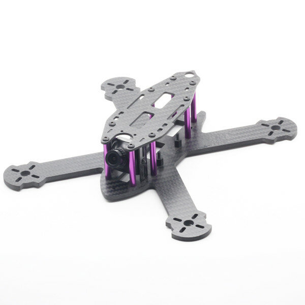 HSKRC TWE210 210mm Wheelbase 4mm Arm 3K Carbon Fiber X Type FPV Racing Frame Kit for RC Drone