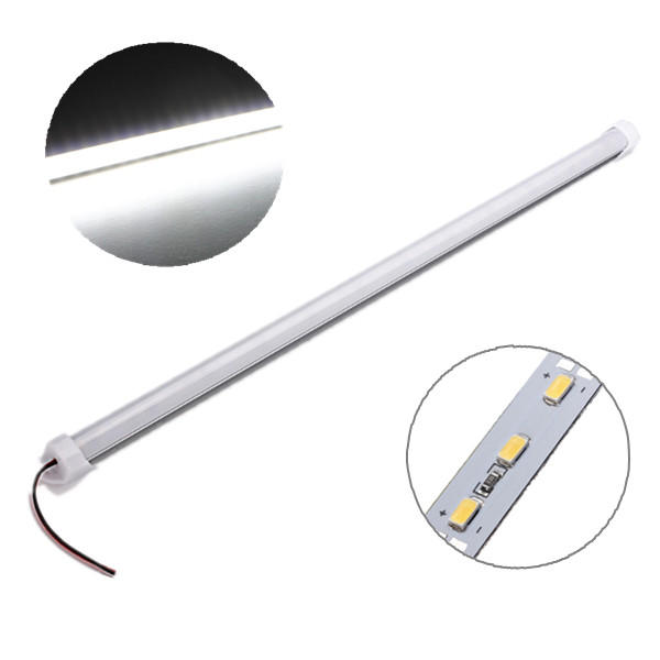 4X 50cm 9W 5630 SMD White Waterproof LED Rigid Strip Cabinet Light for Outdoor Kitchen DC12V