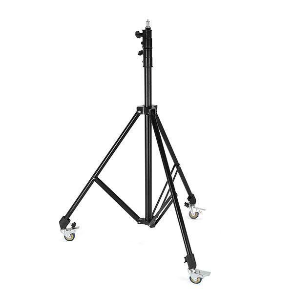Meking Universal Ajustable Anti-Shake Anti-Skid Light Stand Trolley Wheel with Brake Lock фото