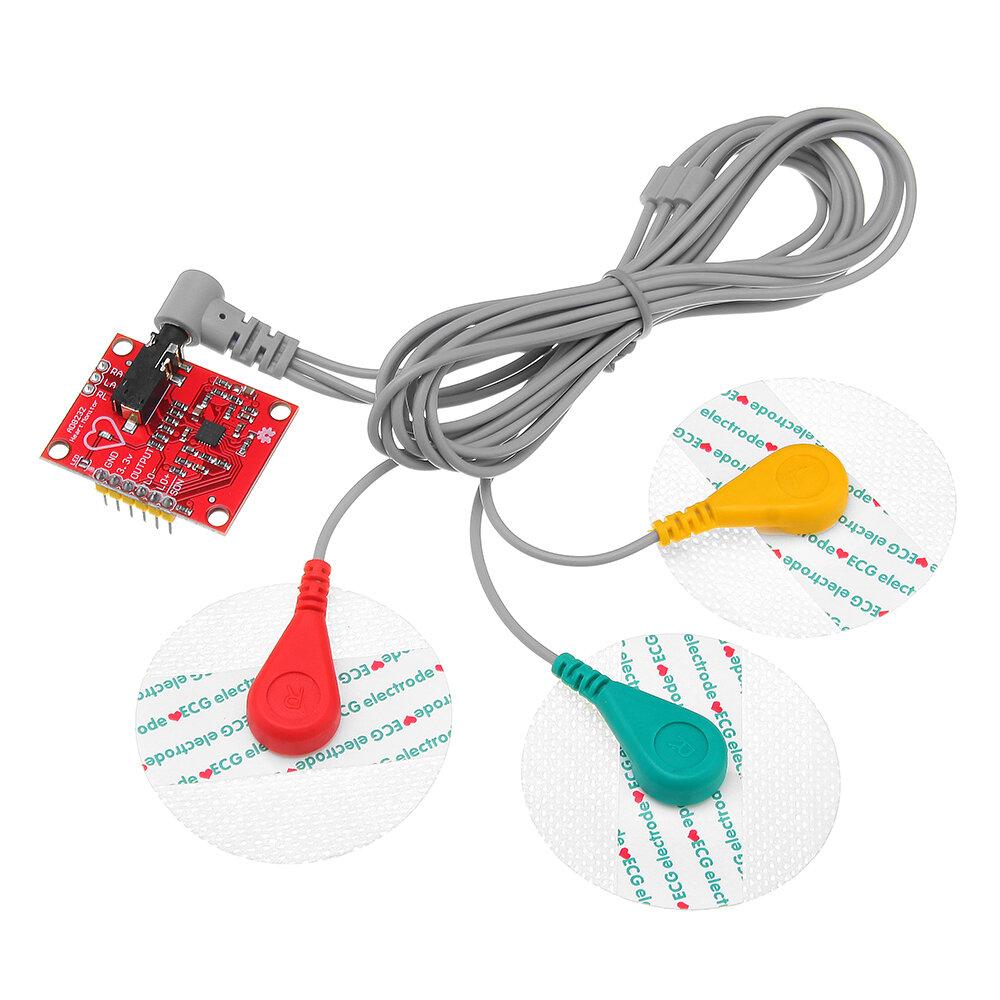 AD8232 Mô-đun cảm biến nhịp tim theo dõi nhịp tim cho các thiết bị giám sát Arduino