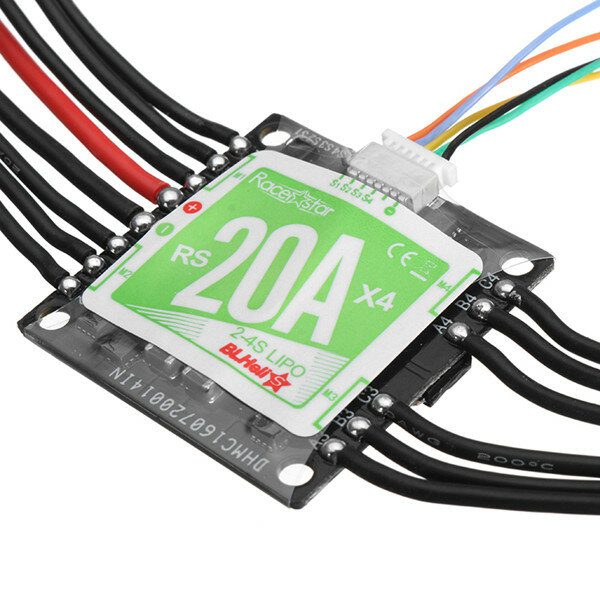 Racerstar RS20Ax4 20A 4 in 1 Blheli_S Opto ESC 2-4S Support Dshot150 Dshot300 for RC FPV Racing Drone