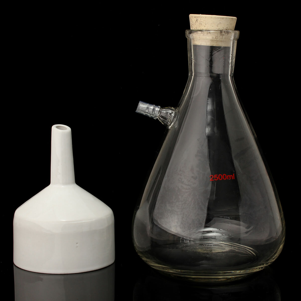 2500mL Filteration Buchner Funnel Kit Vacuum Suction Glass Flask Apparatus