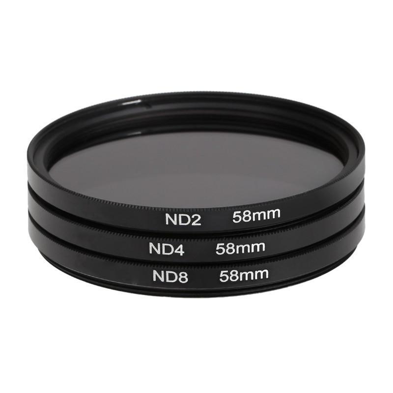 3 PC lente de 58mm filtro ND2 ND4 ND8 densidad neutra