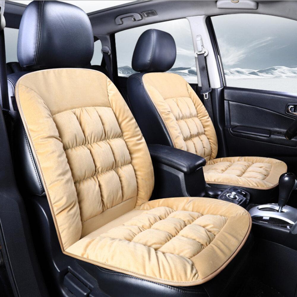 ぬいぐるみ車のフロントシートクッション快適な冬の暖かいカバーパッドチェアプロテクターユニバーサル