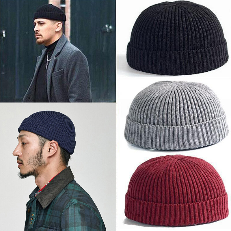 Unisex Solid Color Knitted Wool Hat Skull Cap Beanie, Banggood  - buy with discount