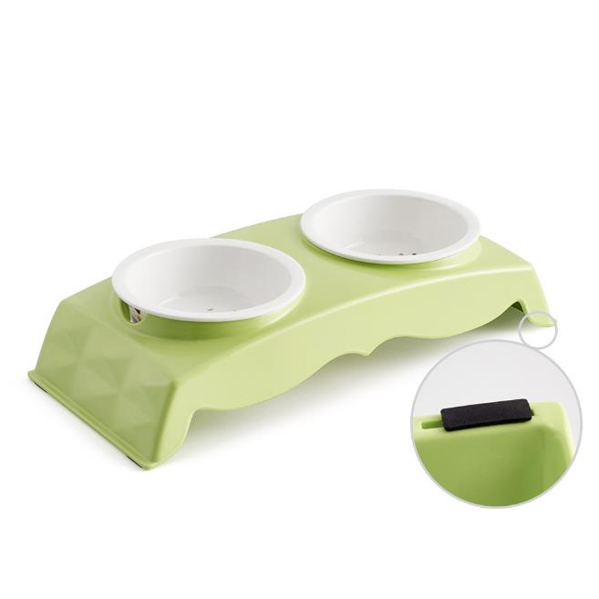 Melamine Pet Bowl for Food and Water Bowls Pet Feeders Double Bowls Set Stainless and Ceremic Bowl